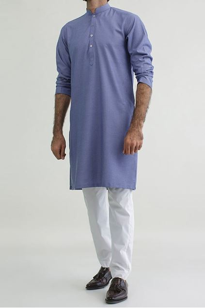 Picture of Blue - Cotton Structed Kurta