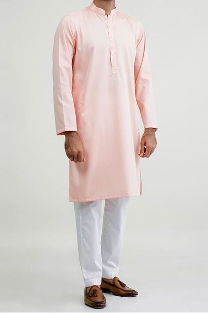 Picture of Classic Peach - Cotton Structured Kurta