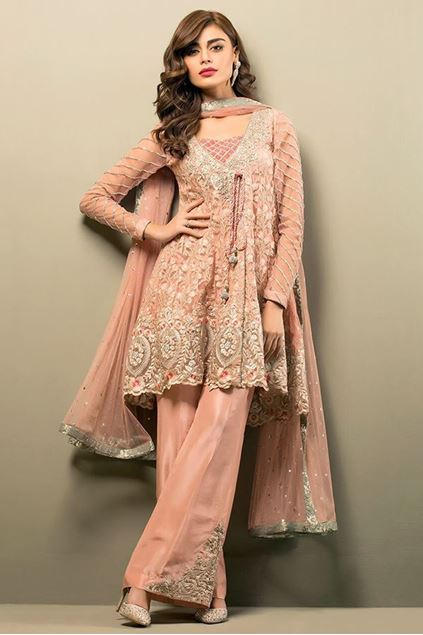 Picture of Salmon Pink Angrakha