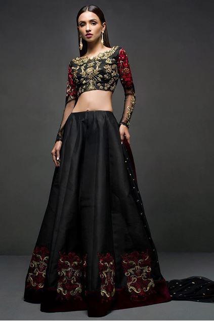 Picture of Black Choli Sharara