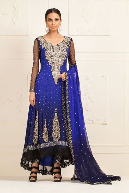 Picture of Cobalt Blue Chiffon Dress
