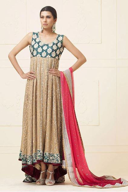 Picture of Beige Khaddi Net Dress