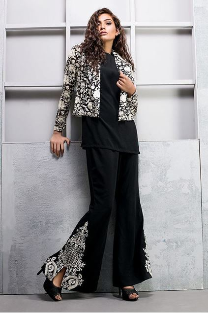 Picture of Black Organza Blazer