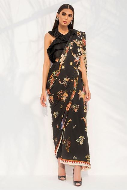 Picture of Digitally Printed Charmeuse Saree