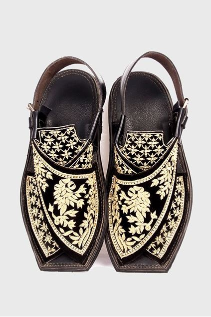 Picture of Embroidered Velvet Slip-ons