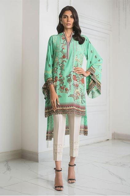 Picture of Crepe High Low Printed Kurta