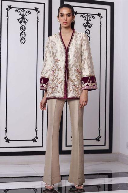 Picture of Jamawar Hand Embellished Jacket
