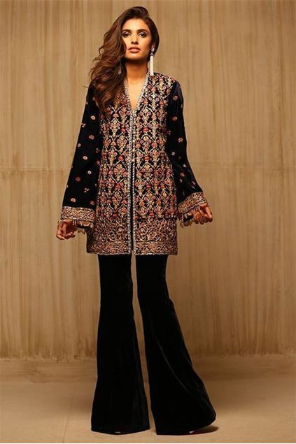 Picture of Hand Embroidered Velvet Coat