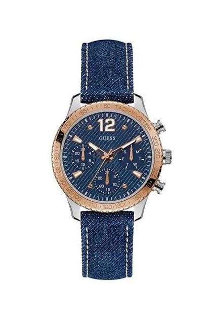 Picture of Guess Womens Blue Denim Watch
